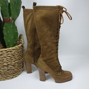 Michael Kors suede knee high boots